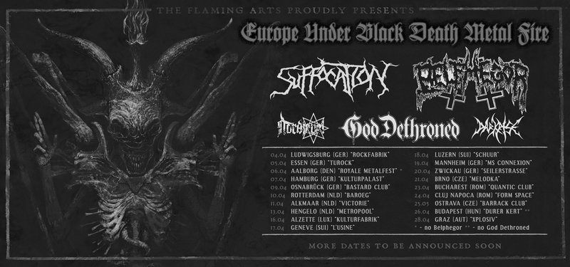 Suffocation + Belphegor + God Dethroned + Nordjevel + Darkrise // Death, Black Metal