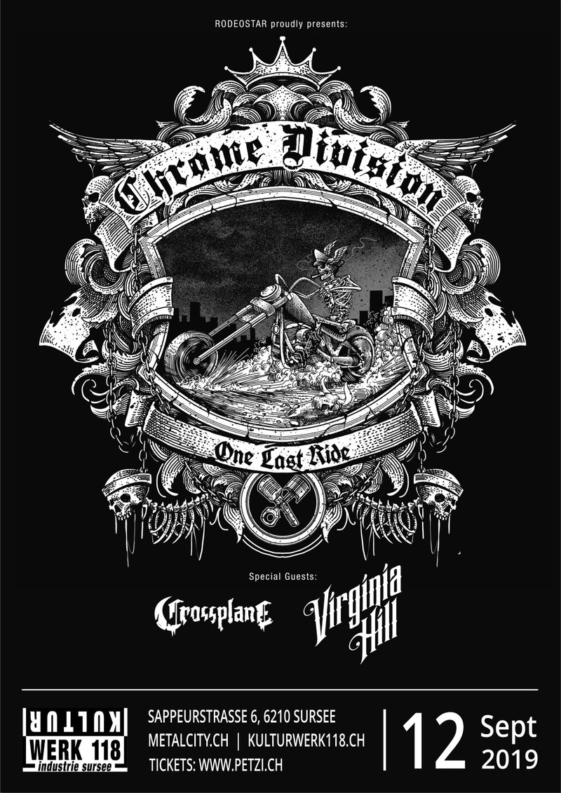 Chrome Division - One Last Ride Tour - Kulturwerk 118