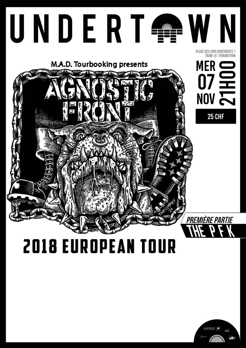 AGNOSTIC FRONT, Colossus Fall, The PFK / Undertown