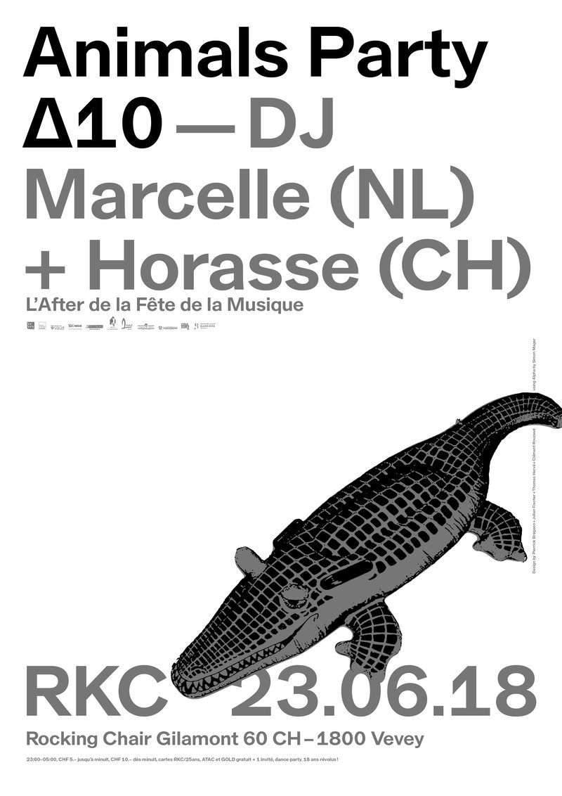 Animals Party ∆10 – DJ Marcelle (NL) + Horasse (CH)