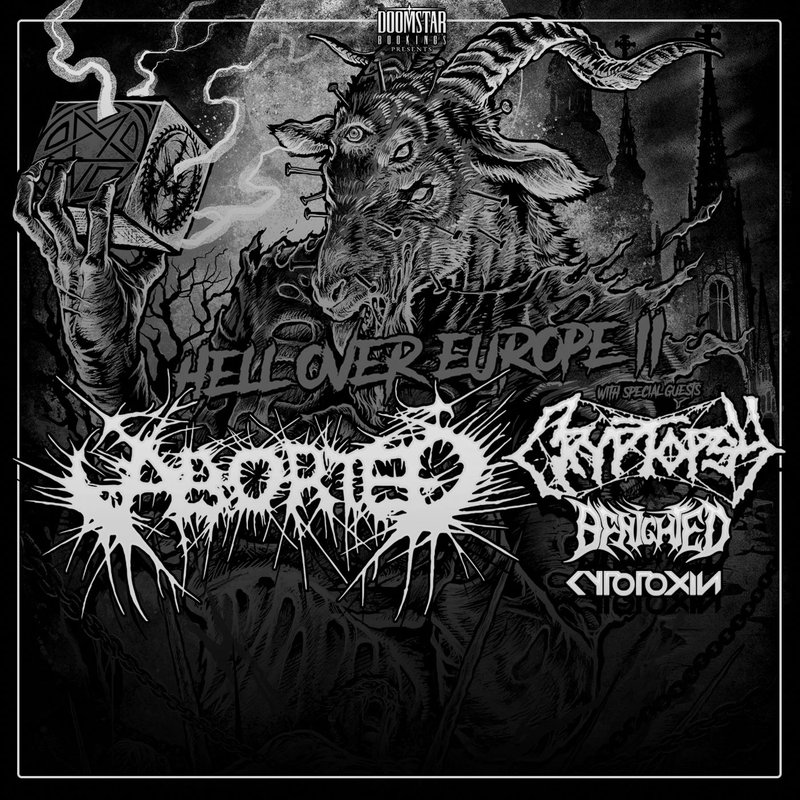 Hell Over Europe 2: Aborted, Cryptopsy, Benighted, Cytotoxin