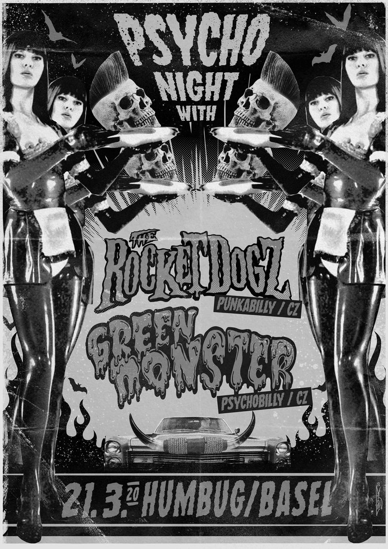Psycho Night with: GREENMONSTER (CZ) | The ROCKET DOGZ (CZ)
