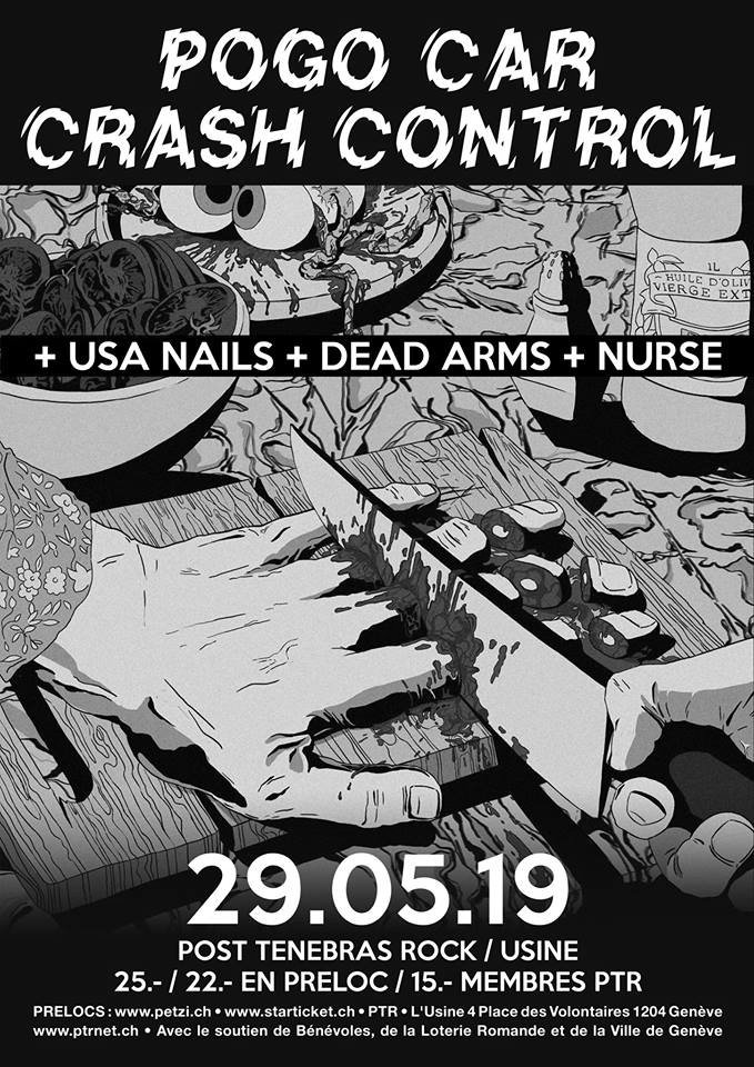 Pogo Car Crash Control (FR) + USA Nails (UK) + Dead Arms (UK) + Nurse (FR) // Garage Rock - Grunge