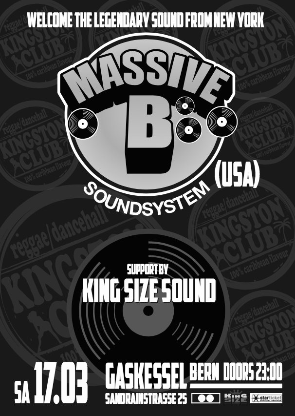 KINGSTON CLUB PRESENTS: MASSIVE B SOUNDSYSTEM (USA)