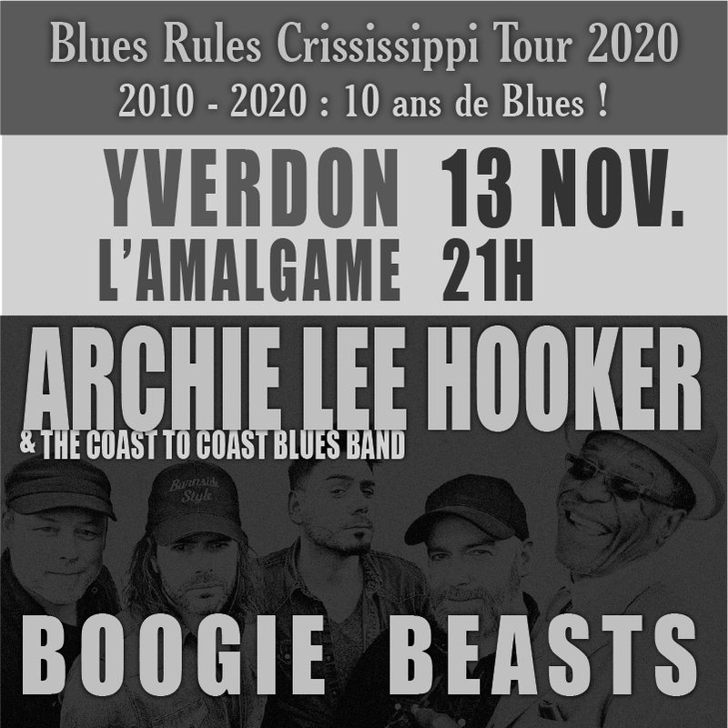 ARCHIE LEE HOOKER • BOOGIE BEASTS | YVERDON-LES-BAINS