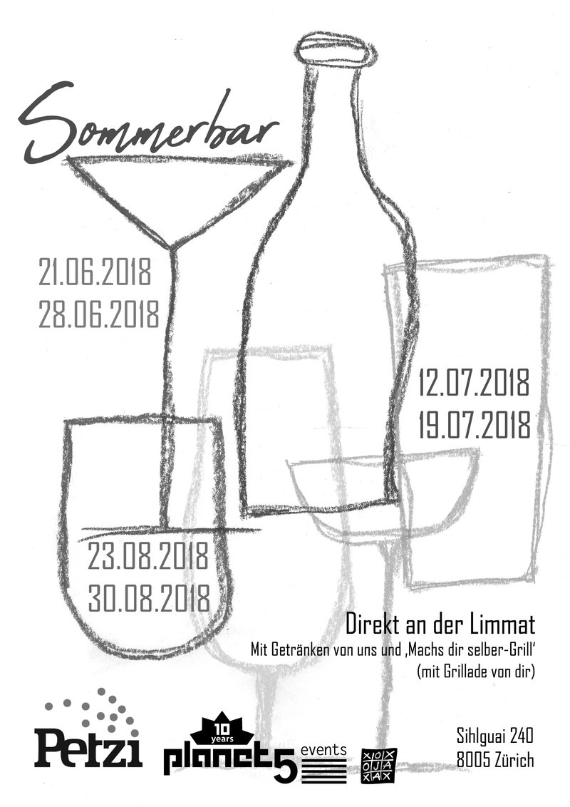 Sommerbar 2018 à table