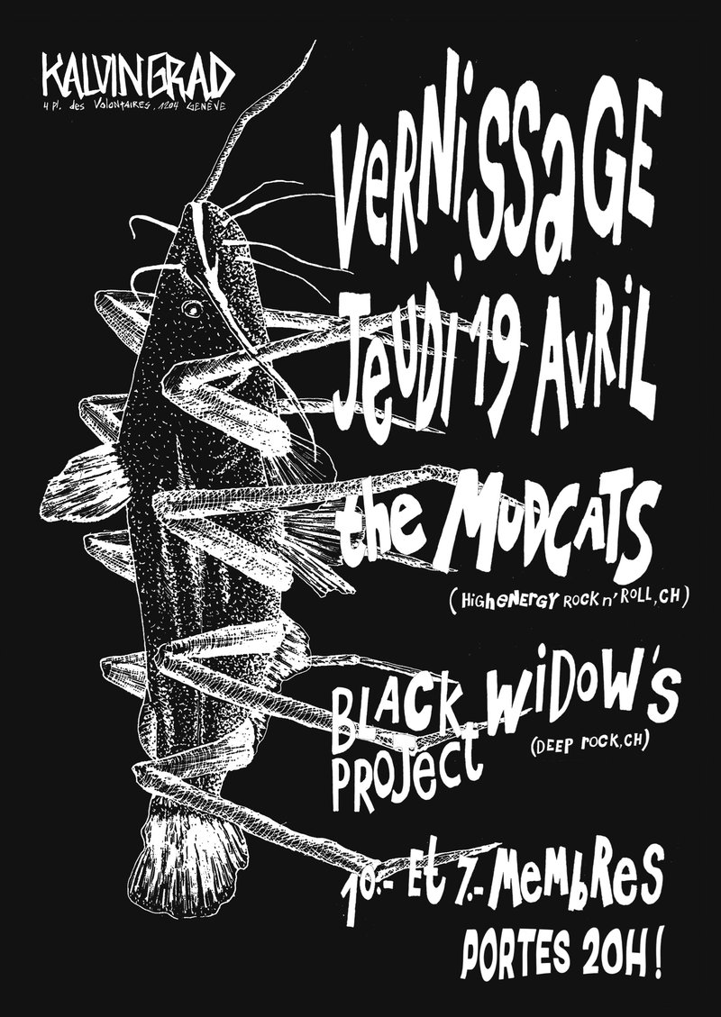 THE MUDCATS (vernissage, high-energy rock'n'roll) + BLACK WIDOW'S PROJECT